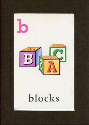 B is for blocks - PLYMOUTH CARD COMPANY  - 12