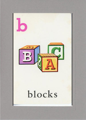 B is for blocks - PLYMOUTH CARD COMPANY  - 13