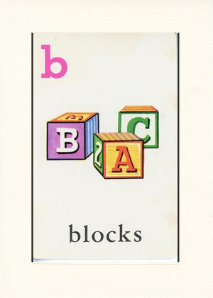 B is for blocks - PLYMOUTH CARD COMPANY  - 16