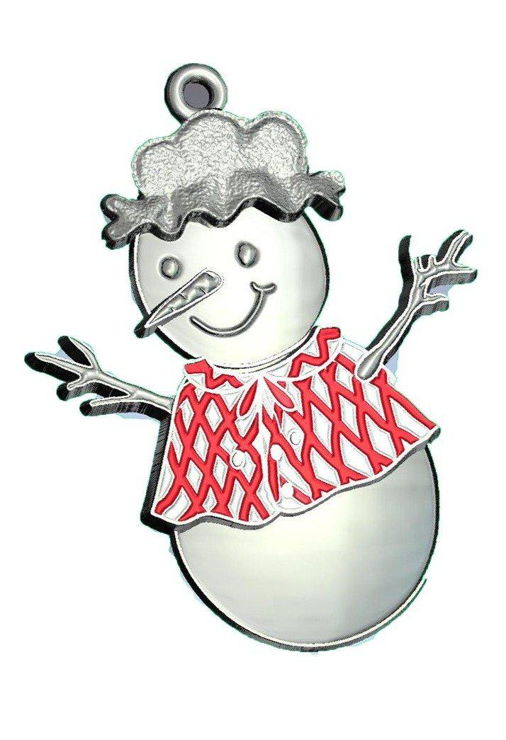 Mary SnowWoman Ornament-Plymouth Cards