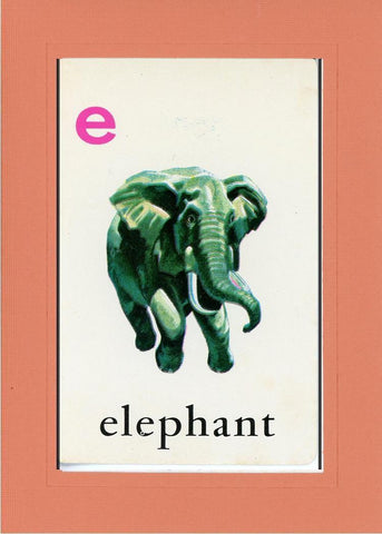 E is for Elephant - PLYMOUTH CARD COMPANY  - 7