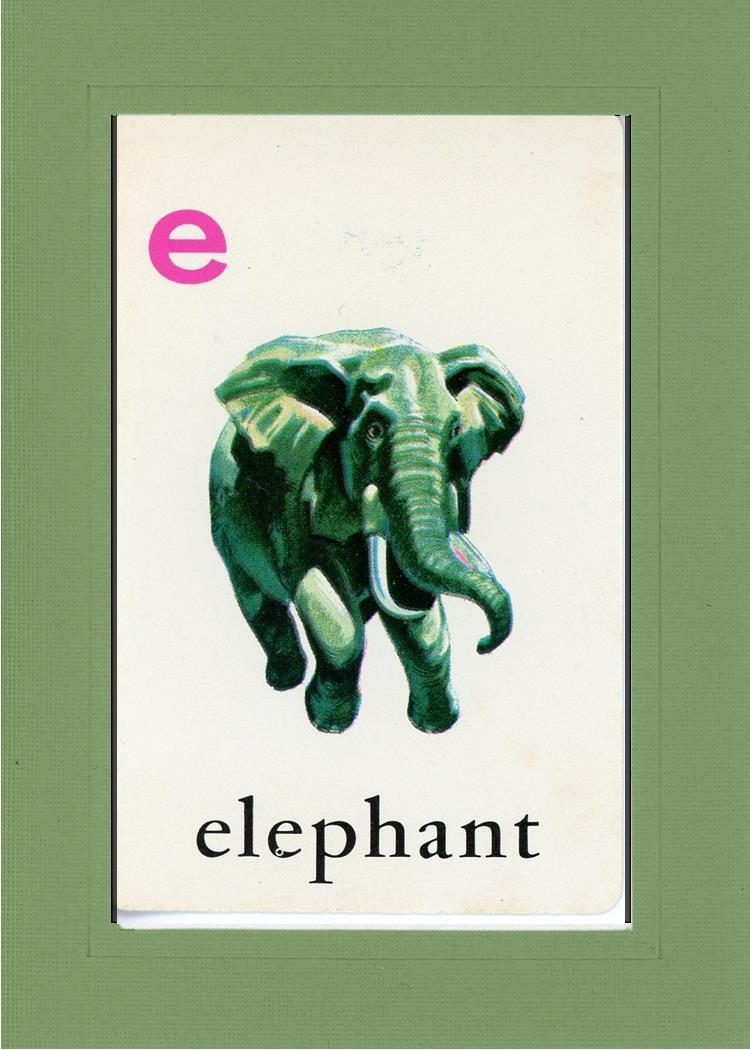E is for Elephant - PLYMOUTH CARD COMPANY  - 13
