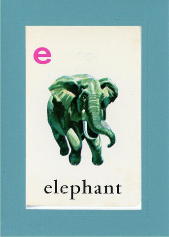 E is for Elephant - PLYMOUTH CARD COMPANY  - 12