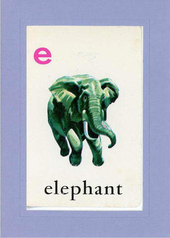 E is for Elephant - PLYMOUTH CARD COMPANY  - 19