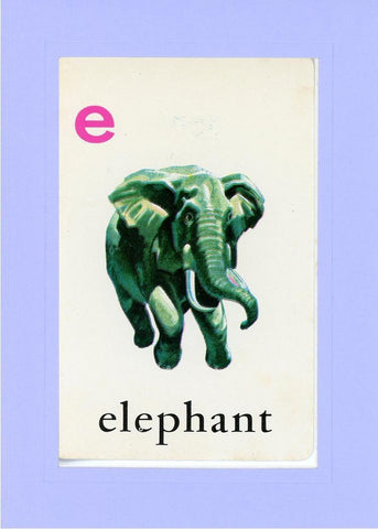 E is for Elephant - PLYMOUTH CARD COMPANY  - 18