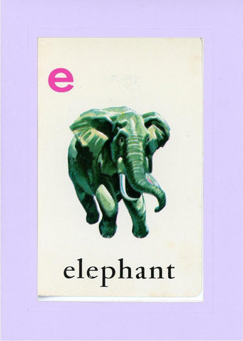 E is for Elephant - PLYMOUTH CARD COMPANY  - 16