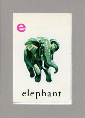E is for Elephant - PLYMOUTH CARD COMPANY  - 15