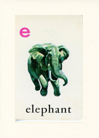 E is for Elephant - PLYMOUTH CARD COMPANY  - 17