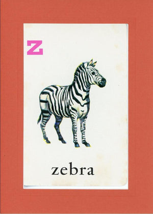 Z is for Zebra - PLYMOUTH CARD COMPANY  - 9