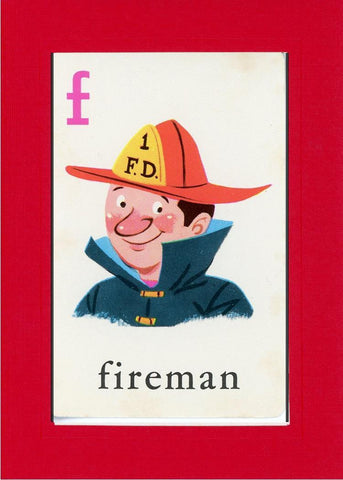 F is for Fireman - PLYMOUTH CARD COMPANY  - 7