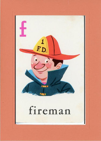 F is for Fireman - PLYMOUTH CARD COMPANY  - 8