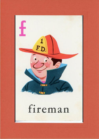 F is for Fireman - PLYMOUTH CARD COMPANY  - 9