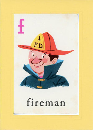 F is for Fireman - PLYMOUTH CARD COMPANY  - 4