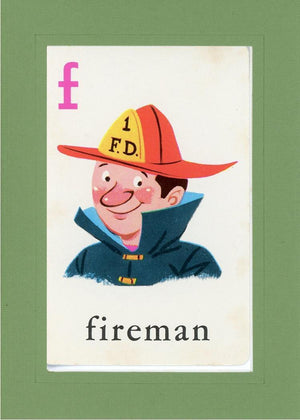F is for Fireman - PLYMOUTH CARD COMPANY  - 10