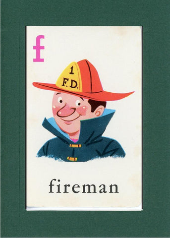 F is for Fireman - PLYMOUTH CARD COMPANY  - 11