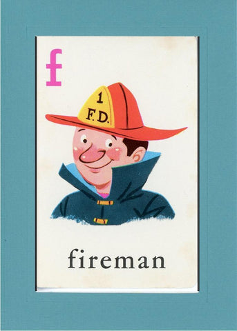 F is for Fireman - PLYMOUTH CARD COMPANY  - 12