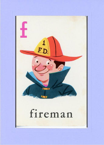 F is for Fireman - PLYMOUTH CARD COMPANY  - 19