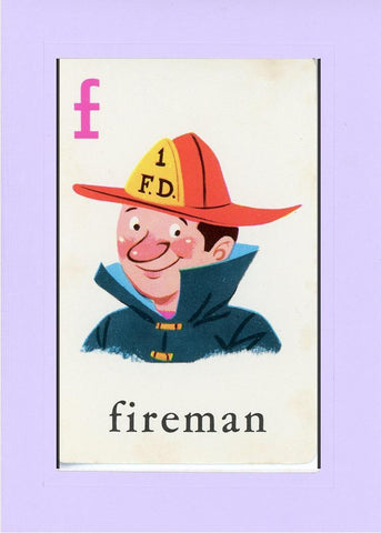 F is for Fireman - PLYMOUTH CARD COMPANY  - 15