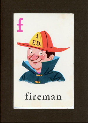 F is for Fireman - PLYMOUTH CARD COMPANY  - 13