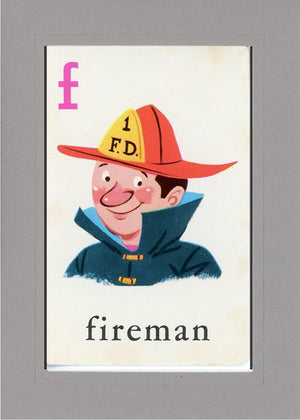 F is for Fireman - PLYMOUTH CARD COMPANY  - 14