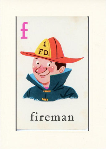 F is for Fireman - PLYMOUTH CARD COMPANY  - 17