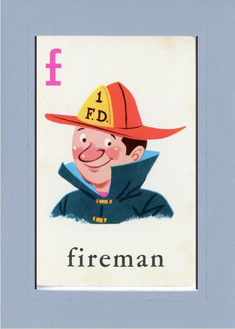 F is for Fireman - PLYMOUTH CARD COMPANY  - 16