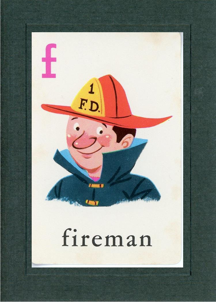 F is for Fireman-Alphabet Soup-Plymouth Cards