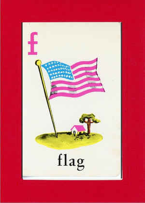 F is for Flag - PLYMOUTH CARD COMPANY  - 5