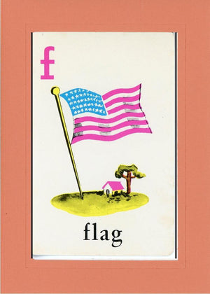F is for Flag - PLYMOUTH CARD COMPANY  - 10