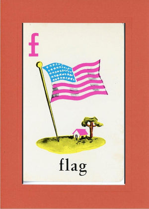 F is for Flag - PLYMOUTH CARD COMPANY  - 7