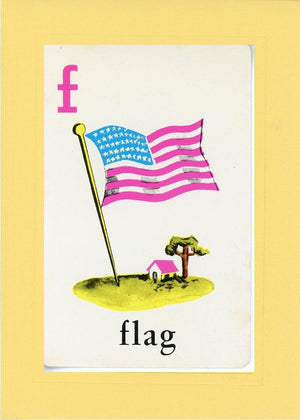 F is for Flag - PLYMOUTH CARD COMPANY  - 3