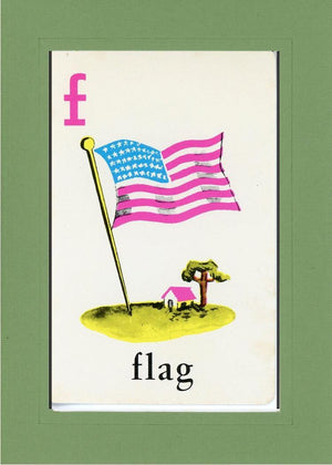 F is for Flag - PLYMOUTH CARD COMPANY  - 6