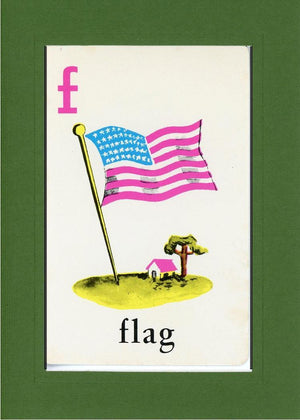 F is for Flag - PLYMOUTH CARD COMPANY  - 8