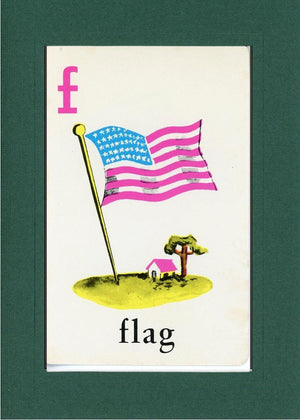 F is for Flag - PLYMOUTH CARD COMPANY  - 9