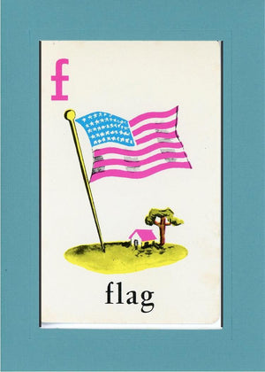 F is for Flag - PLYMOUTH CARD COMPANY  - 11