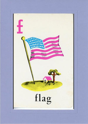 F is for Flag - PLYMOUTH CARD COMPANY  - 32