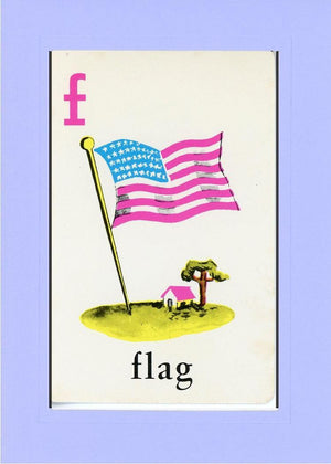 F is for Flag - PLYMOUTH CARD COMPANY  - 33