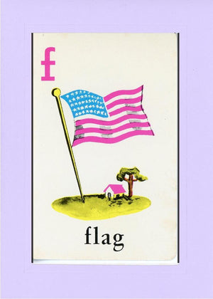 F is for Flag - PLYMOUTH CARD COMPANY  - 29