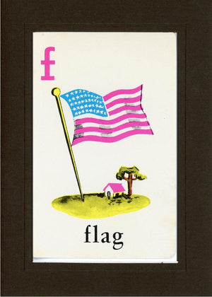 F is for Flag - PLYMOUTH CARD COMPANY  - 27