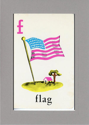 F is for Flag - PLYMOUTH CARD COMPANY  - 28
