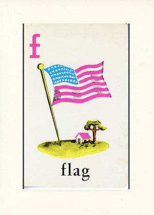 F is for Flag - PLYMOUTH CARD COMPANY  - 31