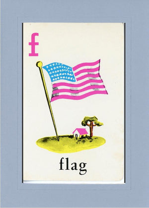F is for Flag - PLYMOUTH CARD COMPANY  - 30