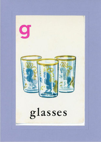 G is for Glasses - PLYMOUTH CARD COMPANY  - 17