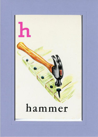 H is for Hammer - PLYMOUTH CARD COMPANY  - 18