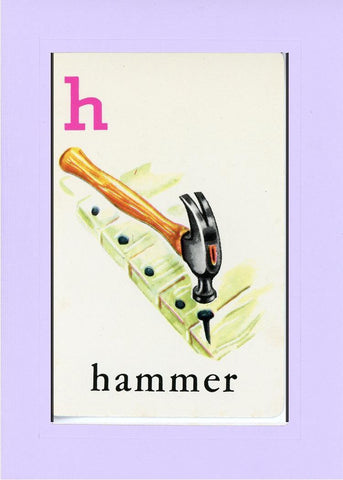 H is for Hammer - PLYMOUTH CARD COMPANY  - 15