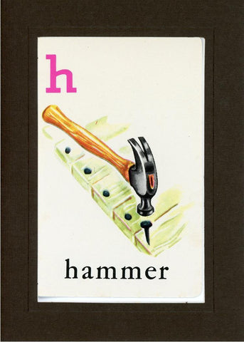 H is for Hammer - PLYMOUTH CARD COMPANY  - 13