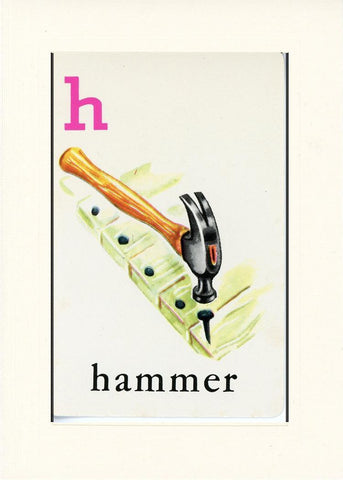 H is for Hammer - PLYMOUTH CARD COMPANY  - 17