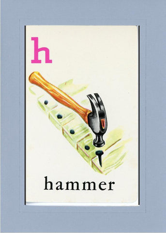H is for Hammer - PLYMOUTH CARD COMPANY  - 16