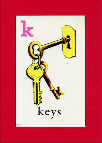 K is for Keys - PLYMOUTH CARD COMPANY  - 6