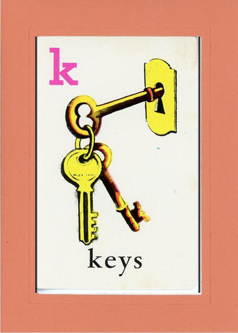 K is for Keys - PLYMOUTH CARD COMPANY  - 12